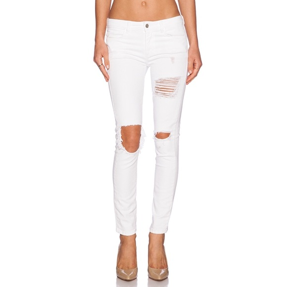 Siwy Pants - SIWY Ladonna in La Femme White Distressed Denim